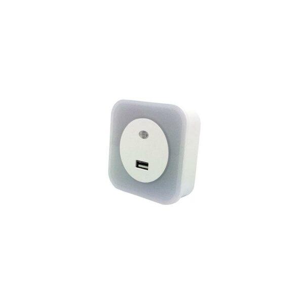 ΦΩΤΑΚΙ ΝΥΚΤΟΣ LED 1.5W 2700Κ 220-240V ΜΕ USB ΚΑΙ ΦΩΤΟΚΥΤΤΑΡΟ