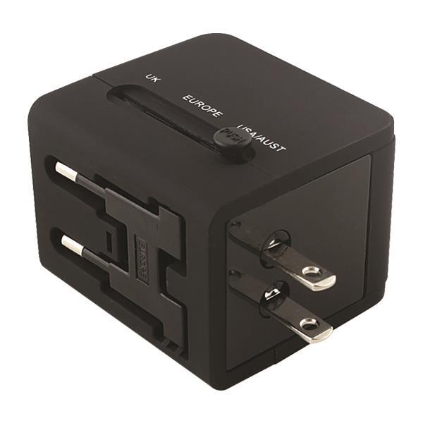 ΤΑΞΙΔΙΩΤΙΚΟΣ ΑΝΤΑΠΤΟΡΑΣ ΑΓΓΛΙΑΣ 6Α ΜΕ 2 ΘΥΡΕΣ USB 2,1A