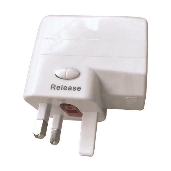 ΤΑΞΙΔΙΩΤΙΚΟΣ ΑΝΤΑΠΤΟΡΑΣ ΑΓΓΛΙΑΣ 6Α USB 1A