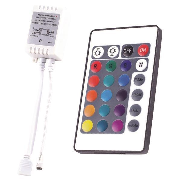 ΑΣΥΡΜΑΤΟ IR CONTROLLER RGB DC 5V/30W 12V/72W 24V/144W