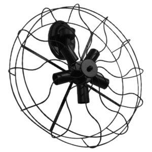 Vintage Industrial Φωτιστικό Τοίχου Απλίκα Πολύφωτο Μαύρο Μεταλλικό Πλέγμα Φ46 GloboStar FAN 01163