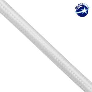 Στρογγυλό Υφασμάτινο Καλώδιο 2 x 0.75mm² Άσπρο GloboStar 80012